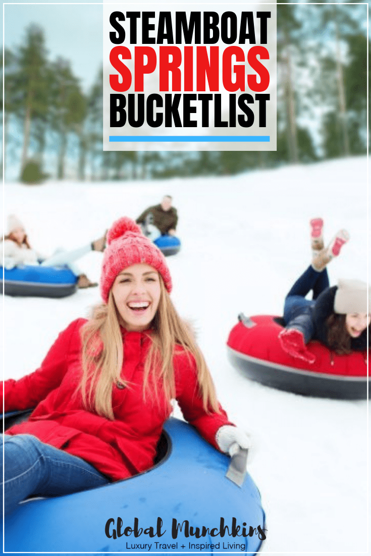 Steamboat Springs is located in Colorado and home to some gorgeous natural hot springs which is where they get their name. They are best known as a ski town and it is said they have amazing champagne bubble soft snow. Check out our Steamboat Springs bucketlist items both on & off the slopes! #steamboatsprings #steamboat #bucketlist #travel #skilessons #traveltips #vacation
