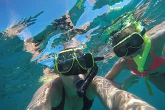 Snorkeling at El Conquistador Resort. in Puerto Rico at Lobo Natural Park