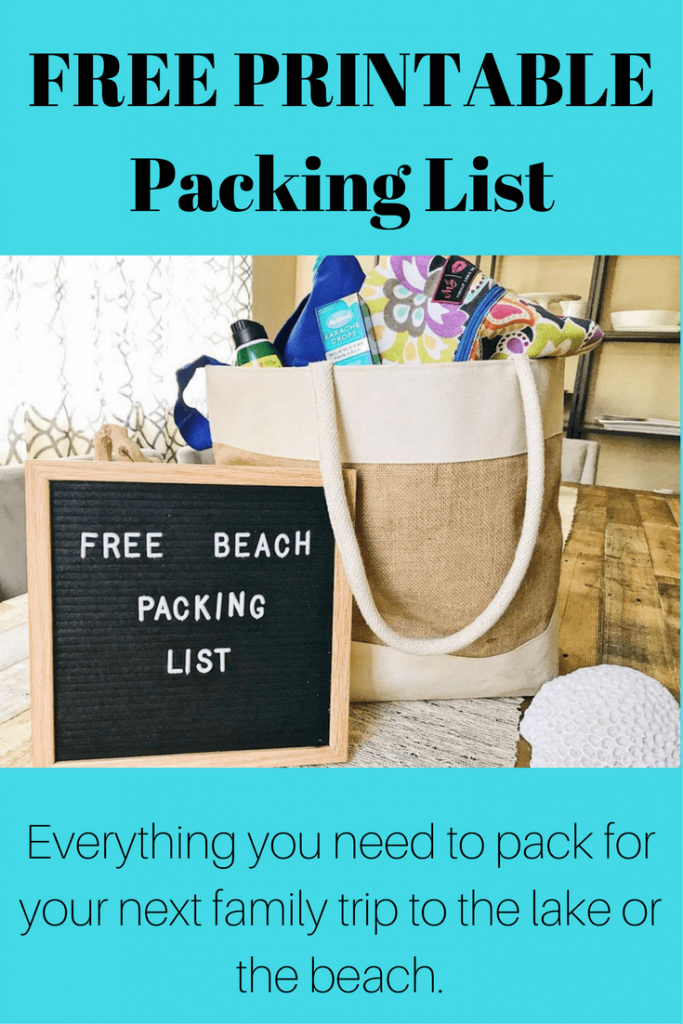 summertime lake or beach vacation packing list   free