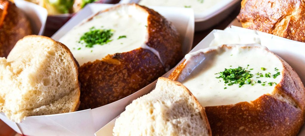 eat clam chowder in carmel ca