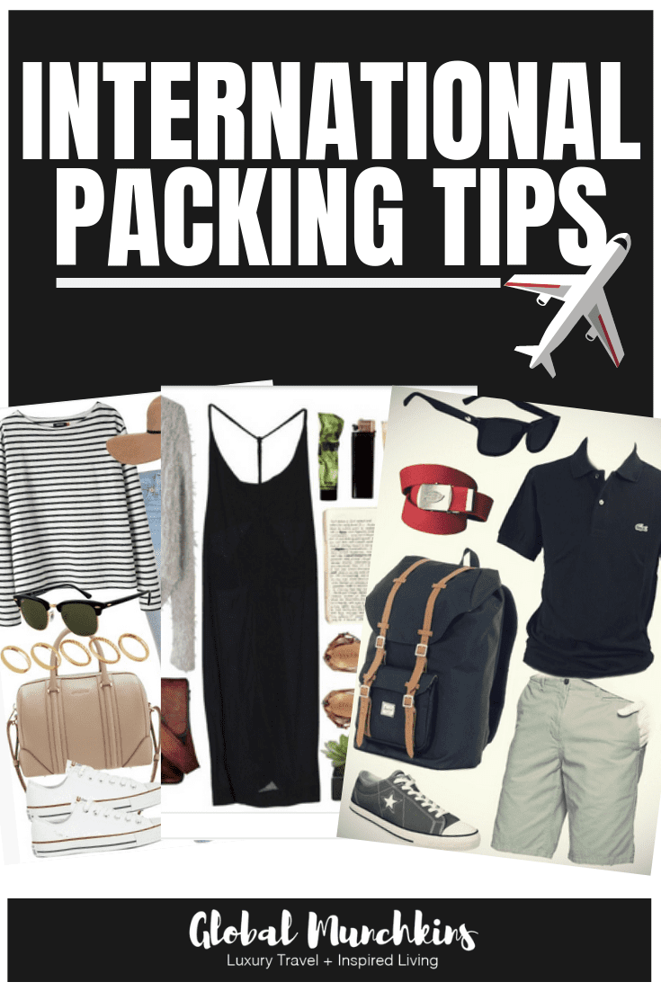 Here's a fantastic guide for internation packing tips! #traveltips #packing #packingtips #vacation