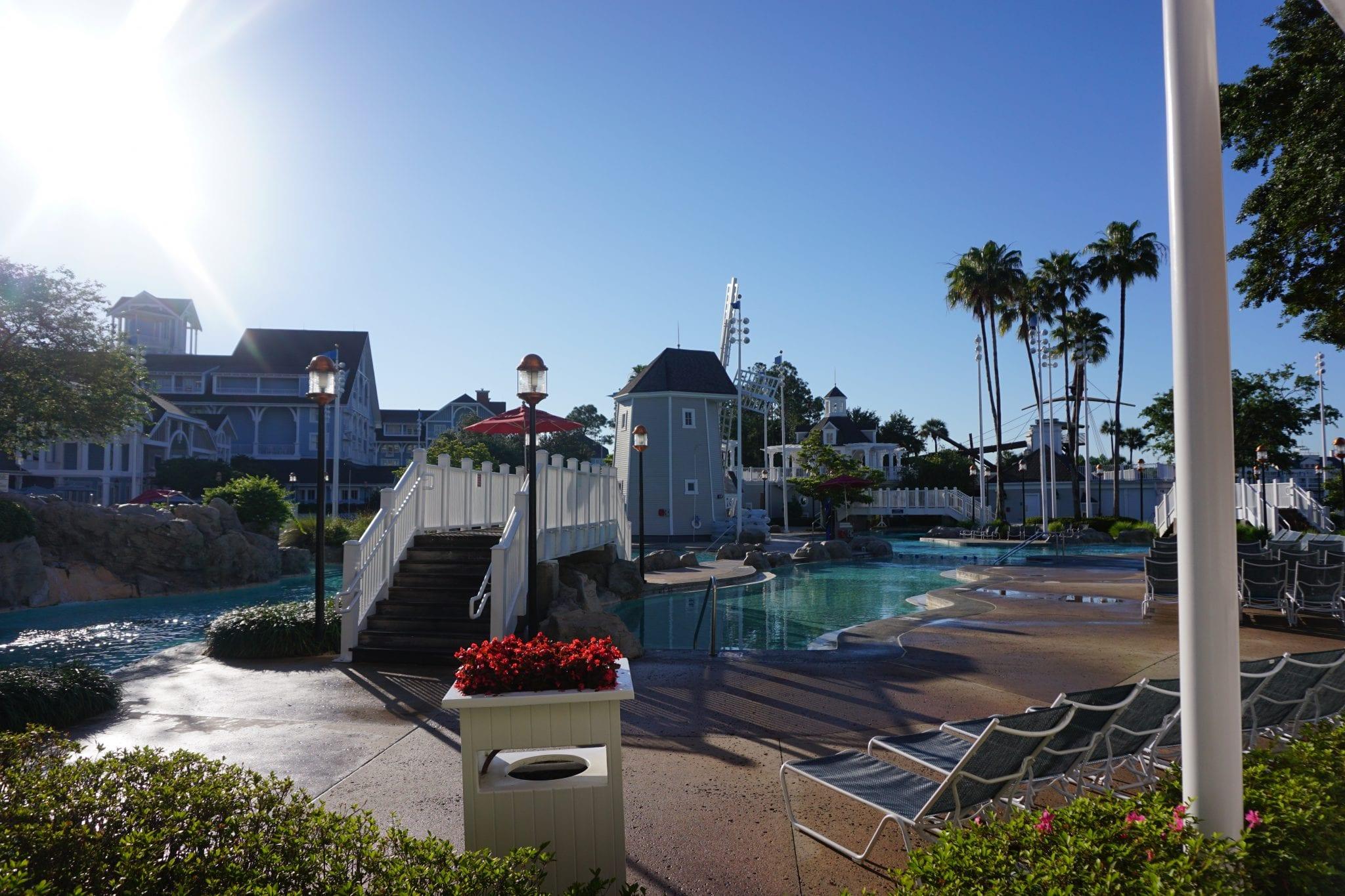 Disney's Beach Club Pool at Disneyworld in Oralndo FL| Global Munchkins