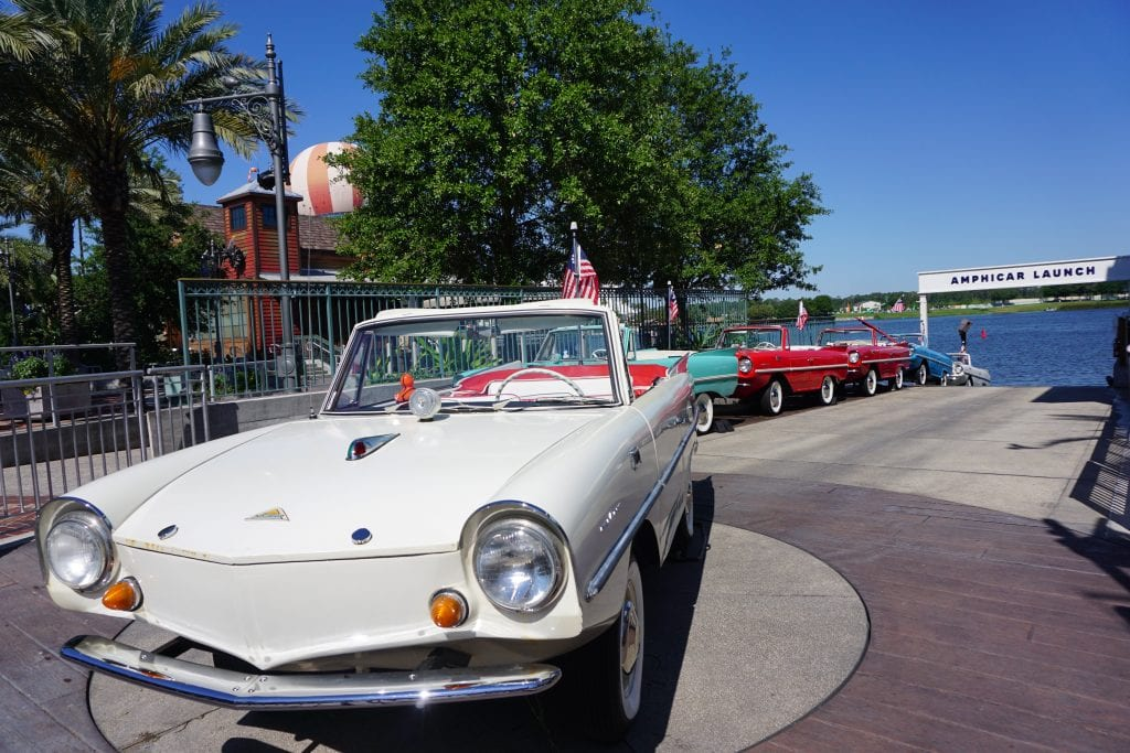 Amphicars at Disney Springs | Global Munchkins
