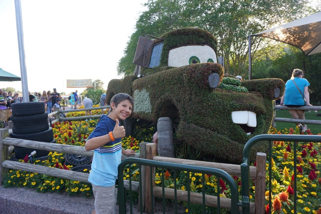 Mater Topiary at the Epcot Flower and Garden festival | Global Munchkins