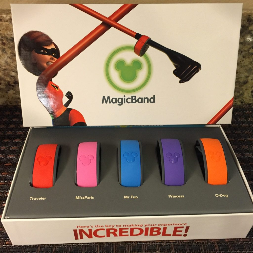 Our family's magic bands for Disneyworld Disney Social Media Moms Celebration #DisneySMMC