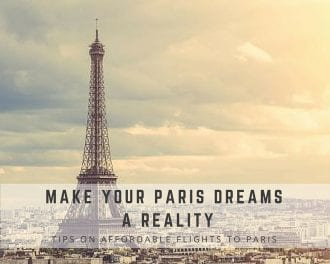 Paris Flights Cheap from XL Airways- sponsored post by Global Munchkins