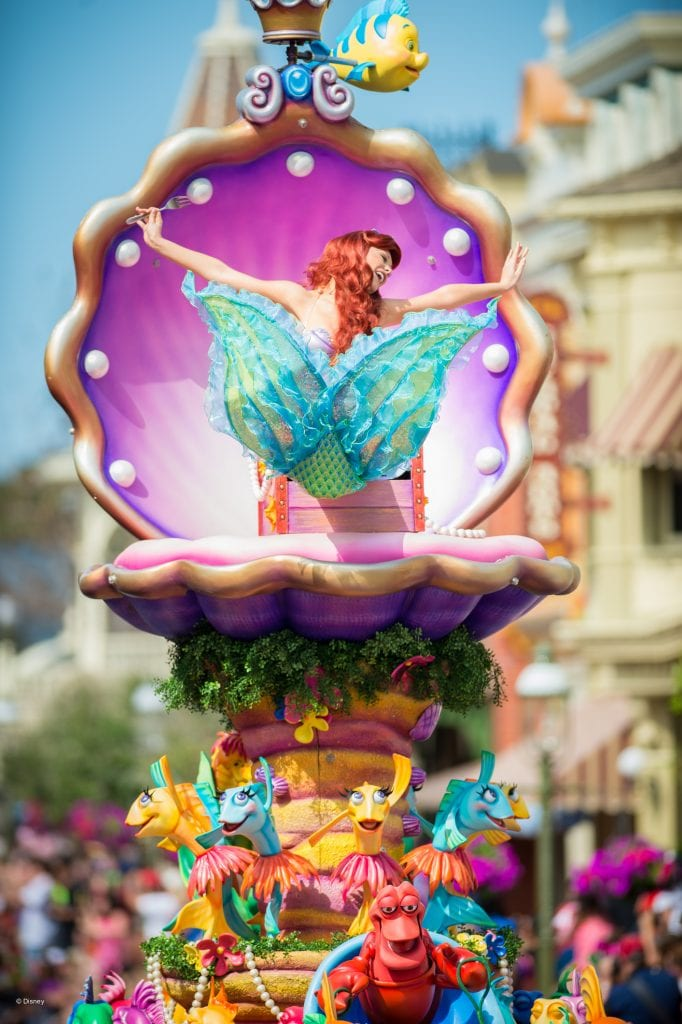 Ariel in Parade at Disneyworld | Global Munchkins