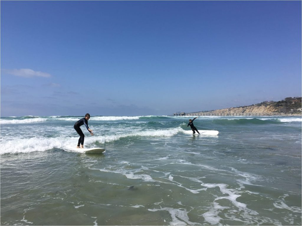 things to do in san diego with kids - surfing