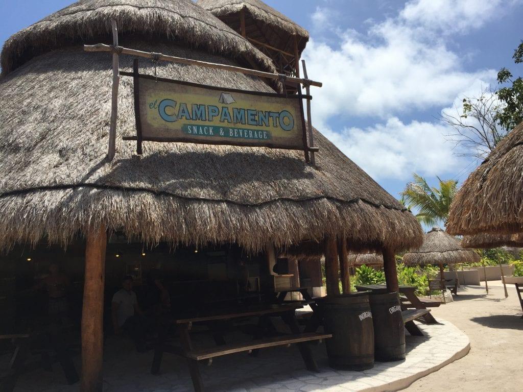 Restaurant at Maya Park in Costa Maya Mexico