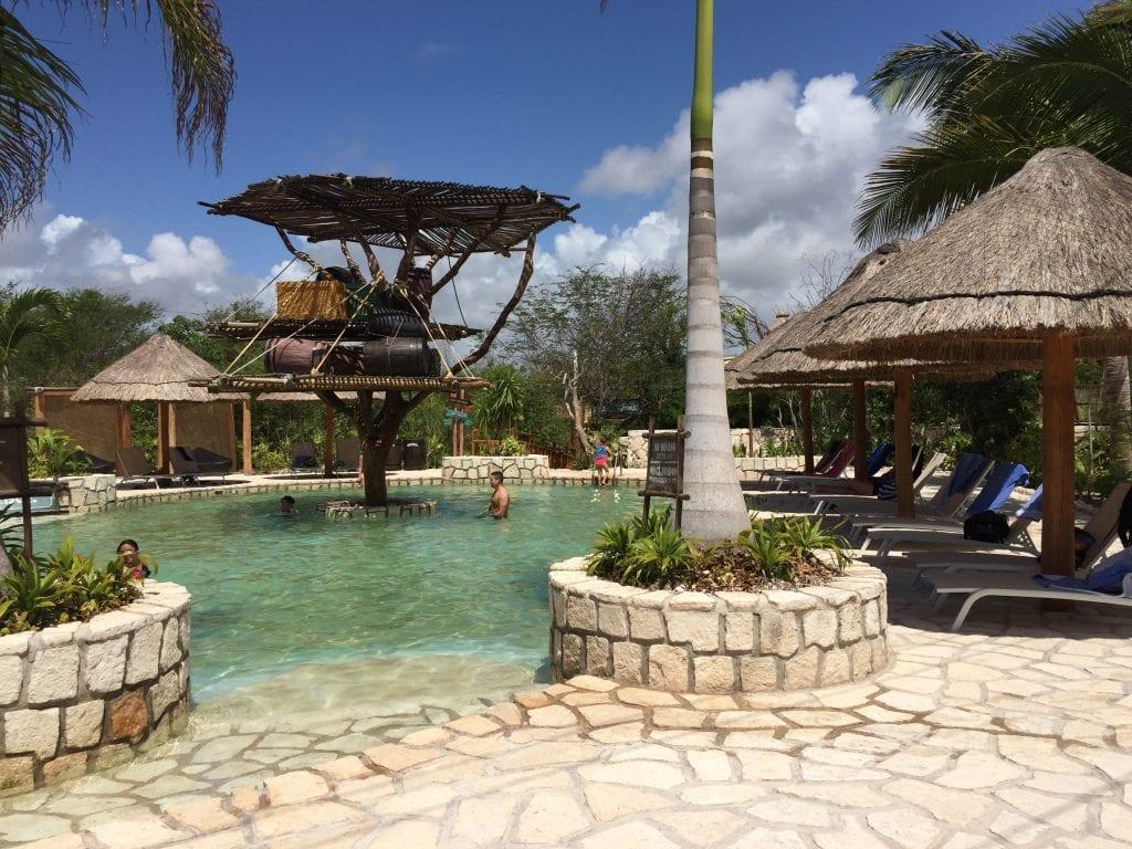 Relax Pool at Maya Park the lost Mayan kingdom in Costa Maya Mexico