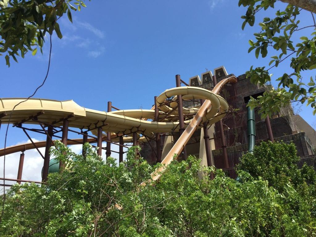 Water Slides at Maya Park in Costa Maya Mexico