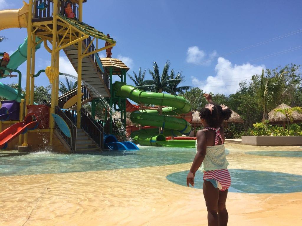 Kids splash park at Maya Park