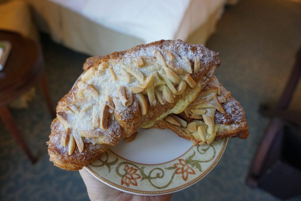 French Almond Croissants at the Ballantyne Hotel
