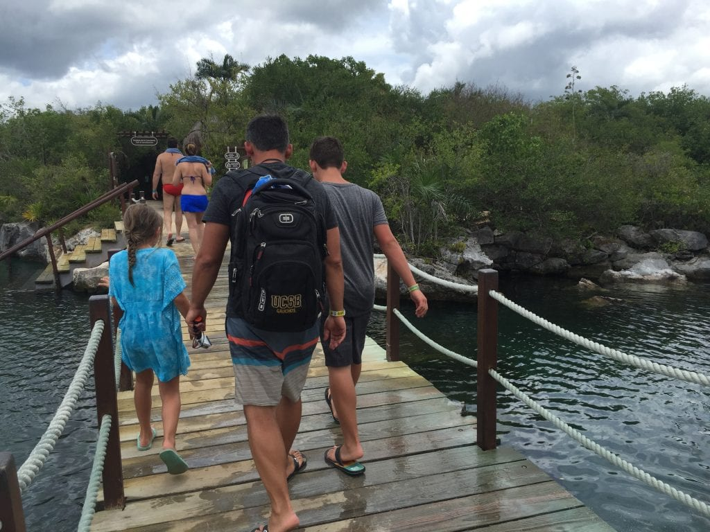 Family fun at Xel-Ha in Cancun Mexico