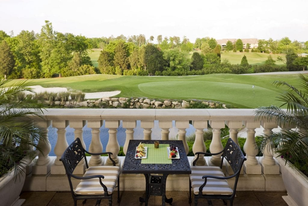 Al Fresco dining on the veranda at the Ballantyne Hotel in North Carolina