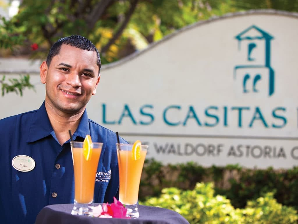cocktail-welcome-la casitas village at El Conquistador Resort