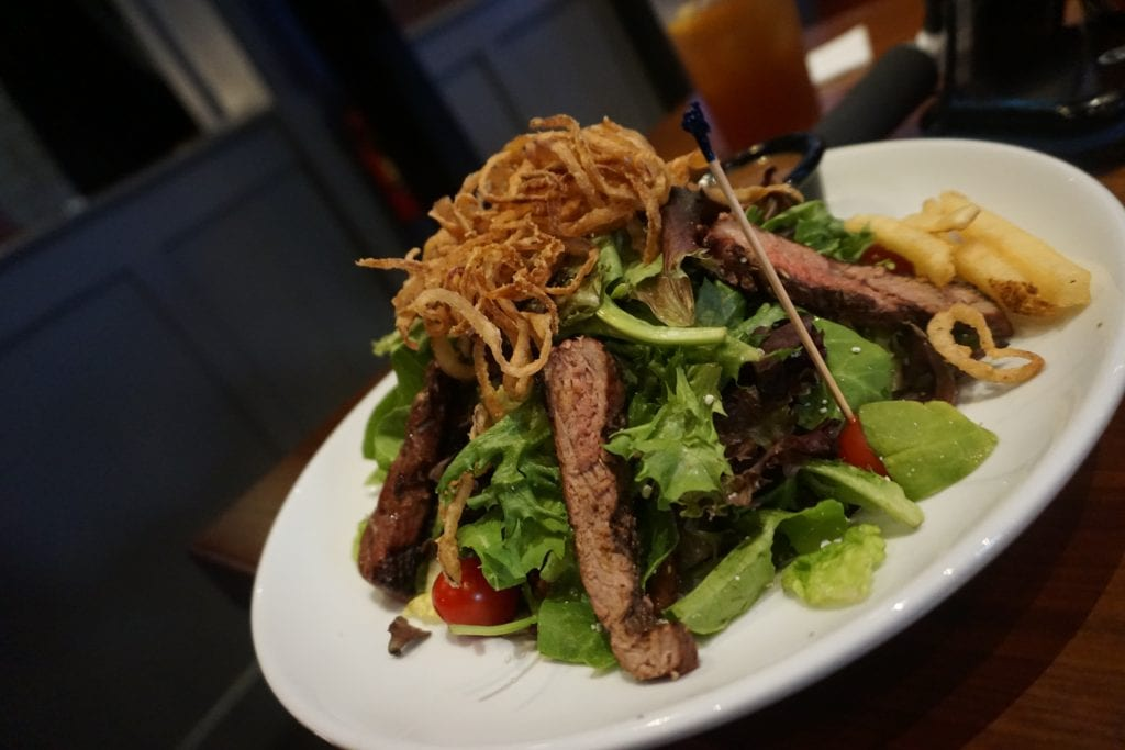 Steak Salad at Dave & Buster's at the Outlets at Orange | Global Munchkins