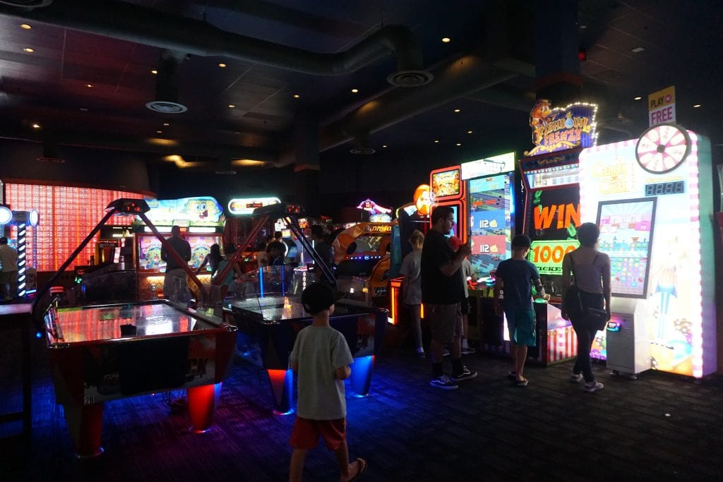 Dave & Buster's Arcade located at the Outlets at Orange | Global Munchkins