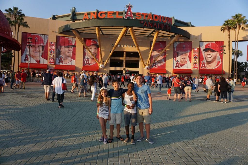 Angels Stadium located in Anaheim CA. Baseball in California | Global Munchkins