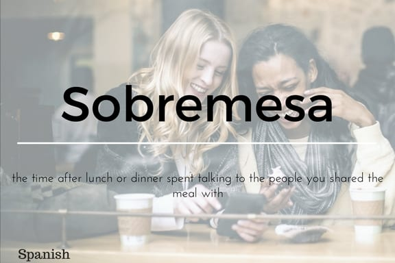 Sobremesa 13 words not in the English Language