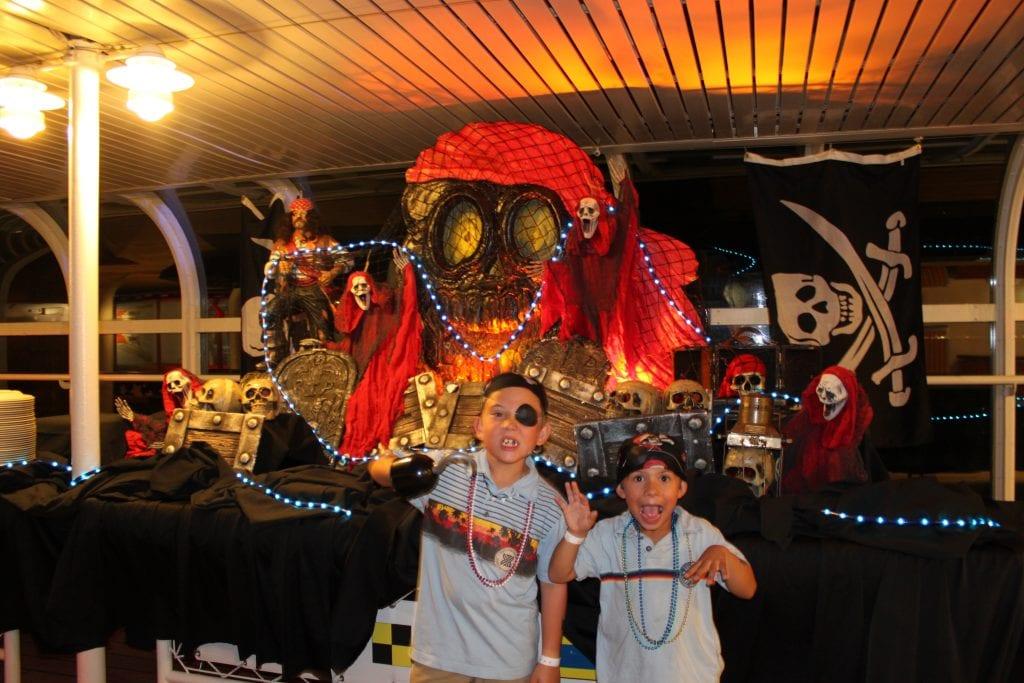 Boys dressed like pirates for Disney Cruise Line Pirate Night   Global Munchkins