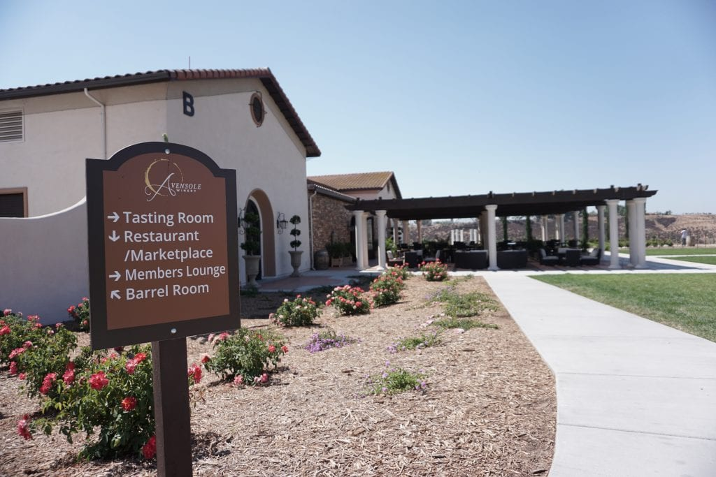 Tasting Room at Avensole Winery complete with Koi filled pond. One of the newest Temecula Wineries | Global Munchkins