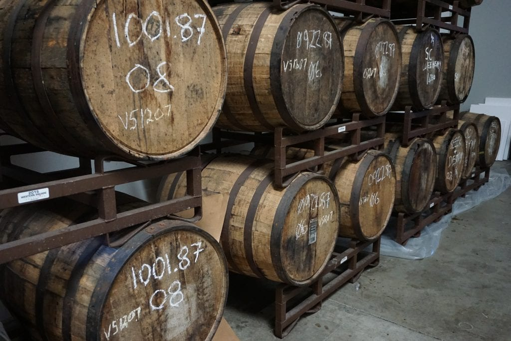 Beer aged in Whiskey Barrels at Black Market Brewing Co. in Temecula. Perfect date night spot in Temecula   Global Munchkins