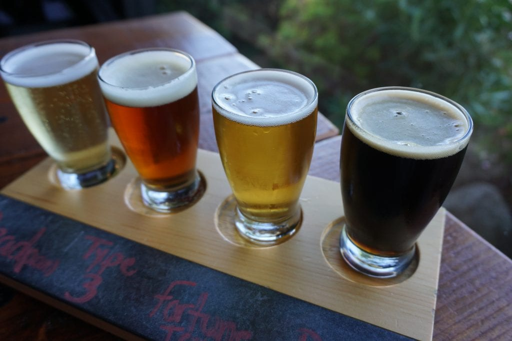 Gorgeous flight of Beer from Wiens Brewing Co. in Temecula   Global Munchkins