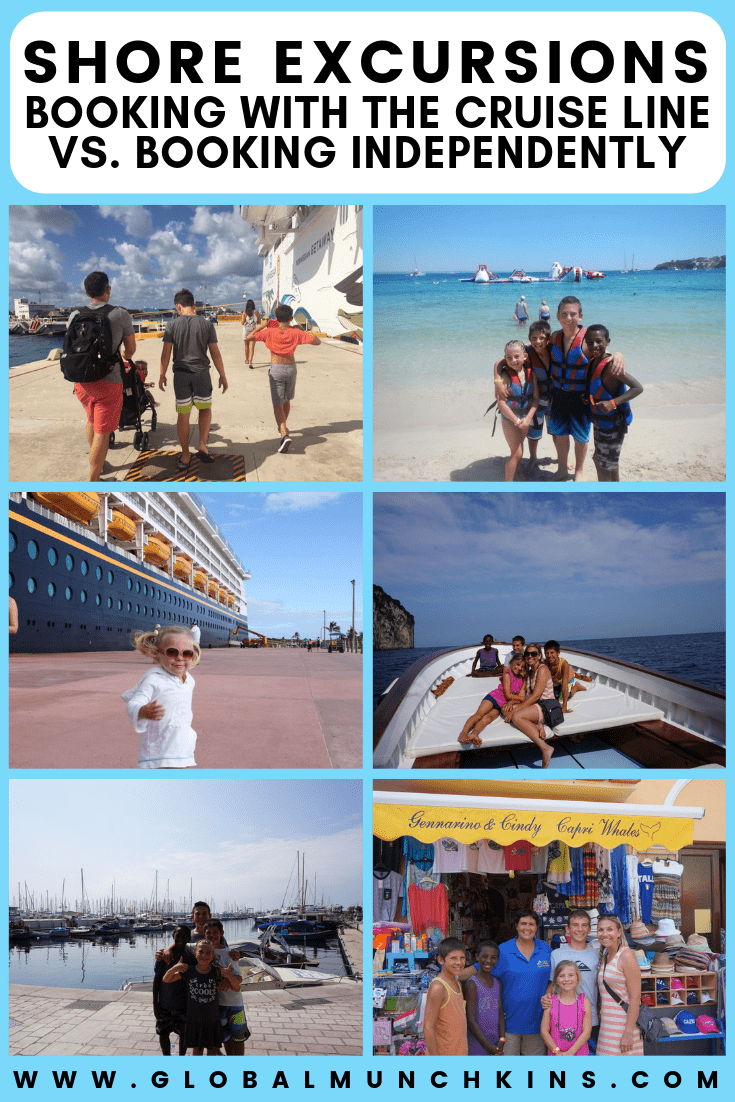 Something I get asked quite often is whether or not cruisers should book shore excursions with their cruise line or independently through third-party tour companies. This question is a bit tricky so I have highlighted some of my reasons to book shore excursions with your cruise line as well as when it is a good idea to go third party. #booking #bookingtips #travel #cruise #cruiseline #cruisetips #cruisers #tips #traveltips #familytrip #familyvacation