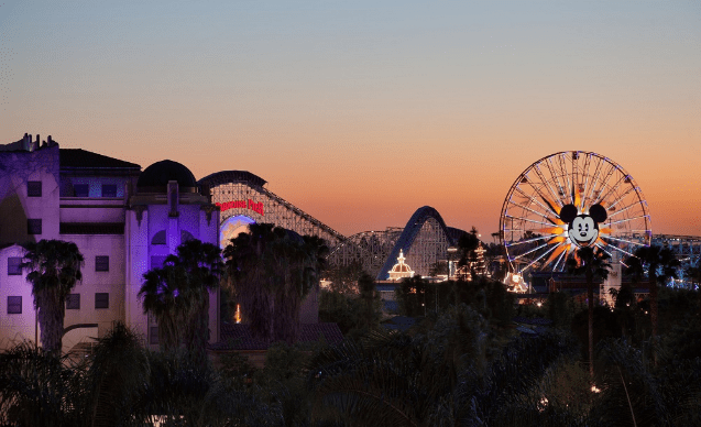 The FIFTH is a rooftop bar in Anaheim with excellent views of the park and Disneyland Fireworks