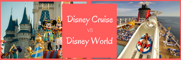 Wondering whether you should book a Disney Cruise or head to Disney World. Let me help you understand the pros and cons of both. Click for all of my best tips
