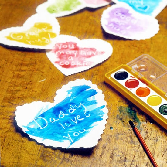 Valentine's Craft for Kids. Invisible Message Valentine's Day