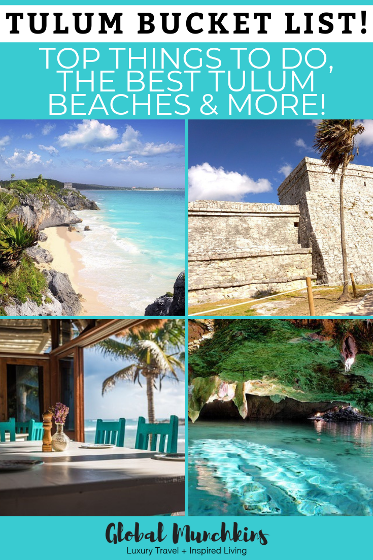 Is it your first time to travel to Tulum? Check out our Tulum bucket list so you can know what are the top things to do, the best beaches, popular restaurants and spas! #tulum #travel #spas #restaurants #spas #bucketlist #wanderlust #traveltips