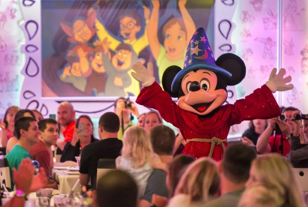 "The newly re-imagined Animator's Palate onboard the Disney Magic is now painting a refreshing new ""Drawn to Magic"" show, immersing guests in an animated show about a hero's journey through Disney and Pixar animation from wishing upon a star to happily ever after. (Kent Phillips, photographer)"