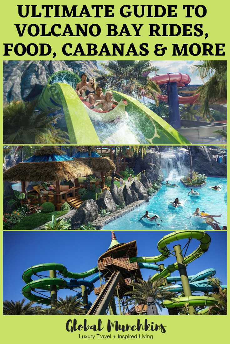 Read on to learn more about the INCREDIBLE Volcano Bay Water Park from rides, food, cabanas and more! #volcanobaywaterpark #review #rides #foodreview #themepark #universalorlando #volcanobay