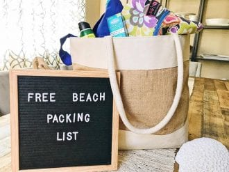 FREE Printable Beach or Lake Packing List with EVERYTHING your family needs for a beach vacation or a trip to the lake. Lake or Beach Vacation Packing List #beachpackinglist #PackingList #BeachTripPackingList