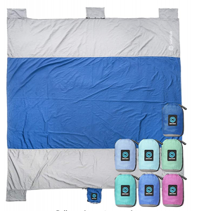 beach blanket, sand proof blanket, packable blanket, compact blanket