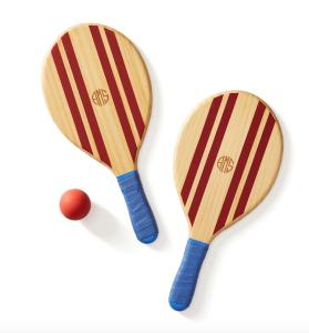 paddle ball set, beach games, customizable beach games, lakeside games