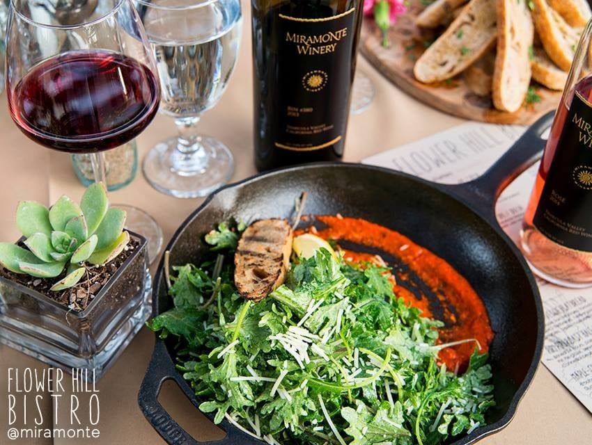 The Flower Hill Bistro at Miramonte Winery. The best new restaurant in Temecula. Find the newest restaurants in Temecula. #temecula #temecularestaurants #temeculawinery