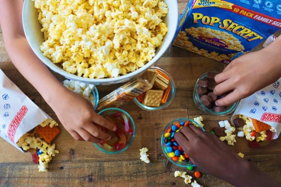 Simple DIY Movie Night Popcorn Station