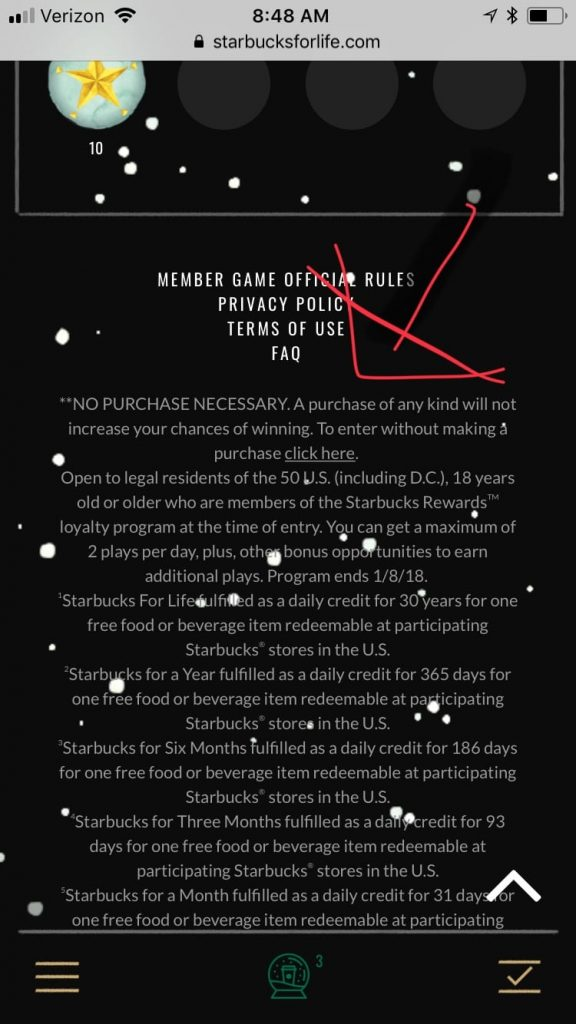 starbucks for life free game play