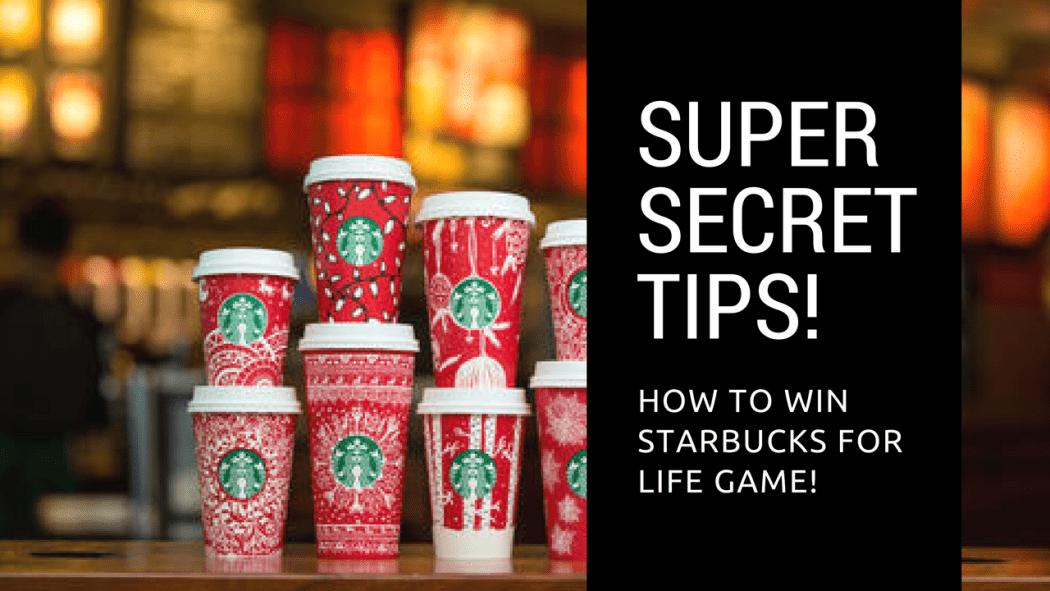 Super Secret tips starbucks for life