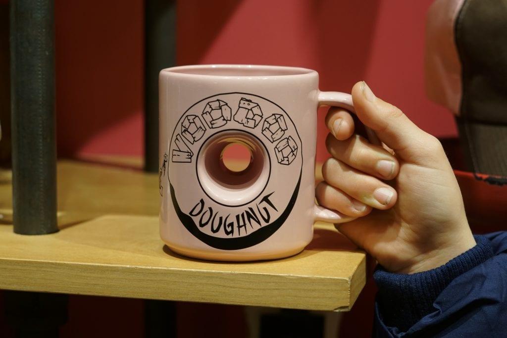 voodoo donuts city walk coffee mug