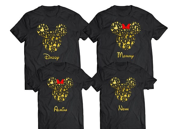 Disney Silhouette - Disney Shirts for the Family