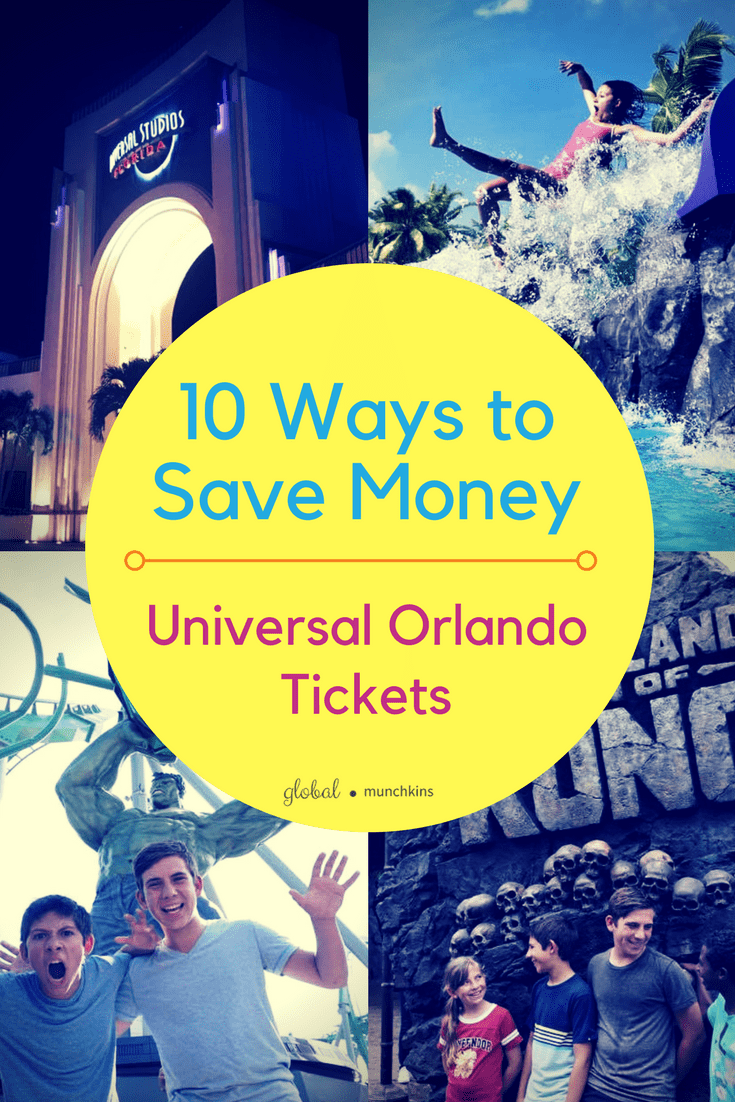 10 Ways to Save Money Universal Orlando Tickets