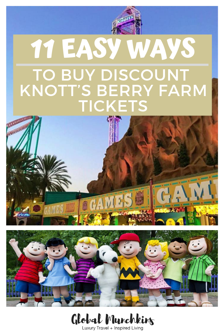 Here are 11 easy ways to buy discounted Knott's Berry Farm Tickets. #discount #ticketsdiscount #save #savings #savebig #knottsberryfarm #traveltips #travel #familyvacation #vacation