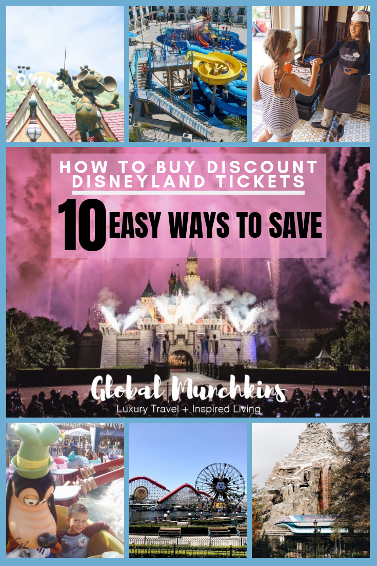 Disneyland is the happiest and most magical place on Earth! It is definitely one of the most visited theme parks Discount Disneyland tickets are few and far between as Disney has been reducing the number of ways to get discount tickets over the years. However, there are several ways to make a trip to Disneyland possible without breaking the bank! Here is how to buy Discount Disneyland Tickets + bonus tips! #disneyland #disney #save #disneylandonabudget #traveltips #disneytravel