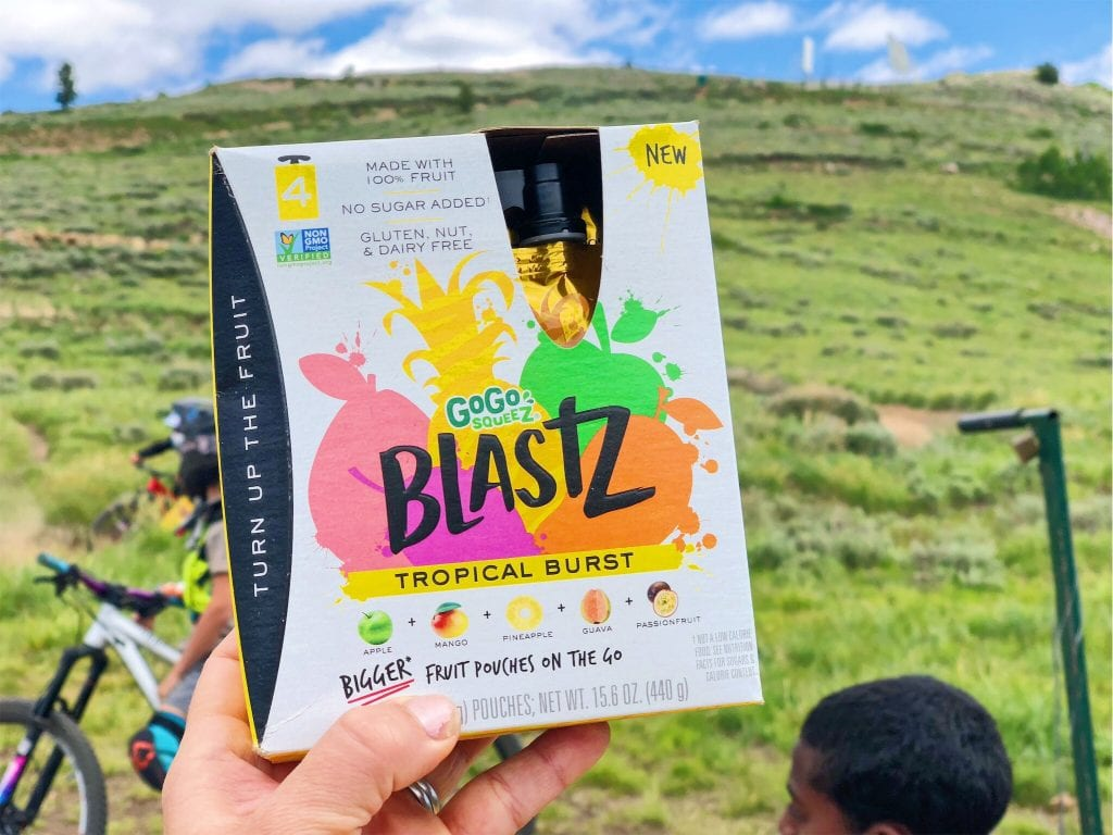 the best hiking food with teens- gogo squeeZ BlastZ!