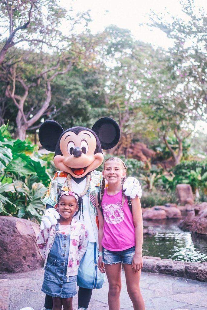 Mickey at Aulani Character Breakfast