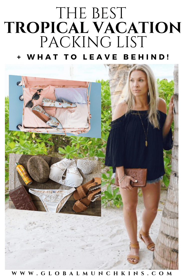 I have put together the BEST Tropical Vacation Packing List after struggling to figure out what in the world I needed to pack for my upcoming Caribbean Cruise. #traveltips #travel #packingtips #vacation #tropical #tropicalvacation #adventureessentials #travelessentials